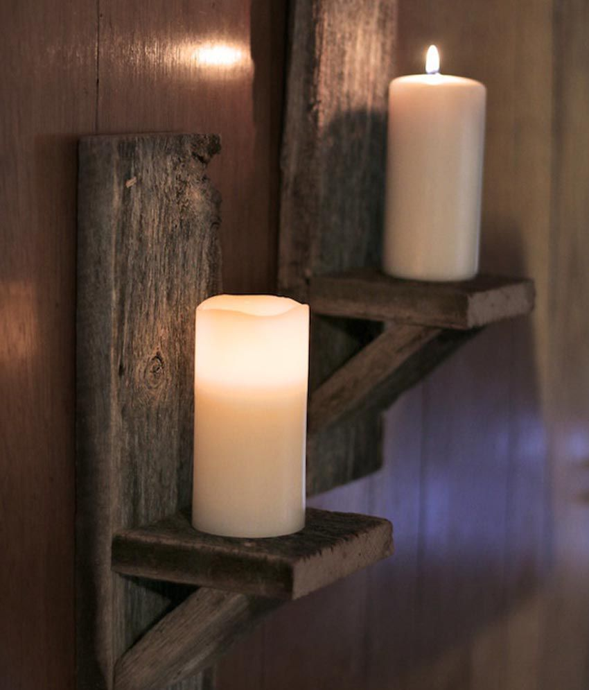 Sa heli wood candle holder regular candle or battery for Oxford turned wood candle holders