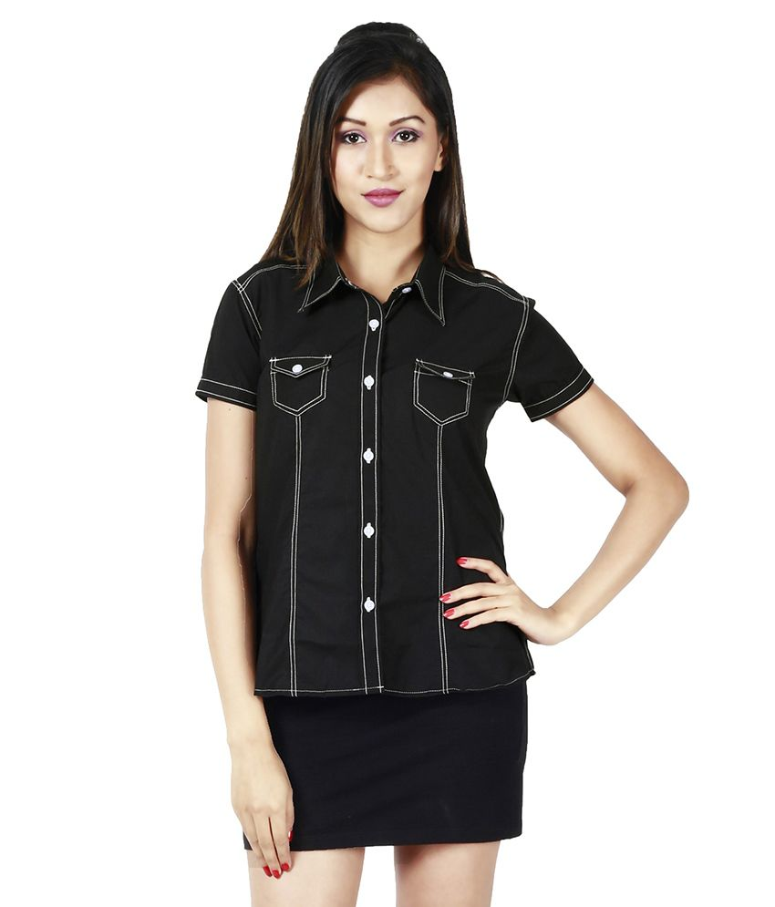 buy faireno black cotton shirts online at best prices in