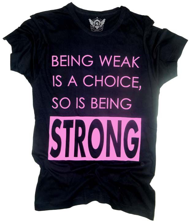 Unisopent Black Being Strong   T-Shirt