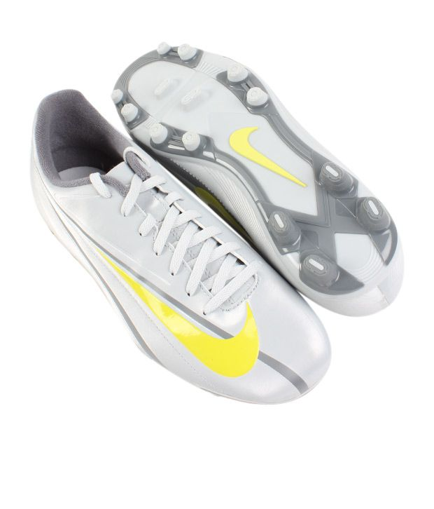 Nike Lively Grey & Yellow & Grey Soccer Shoes