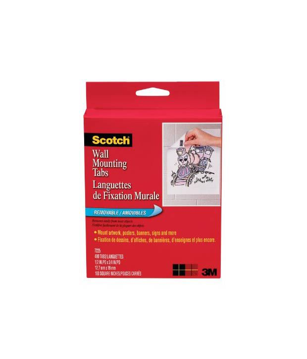 Scotch Wall Mounting Tabs 7225 1 2 Inch X 3 4 Inches 480
