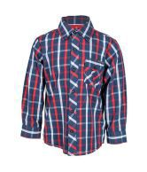 Nauti Nati Red/ Navy Plaid Shirt For Kids
