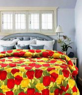 Belkado ' Beautiful Tulips' Double Bed AC Comforter