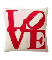 Shiva And Smriti White Red Love Cushion Cover