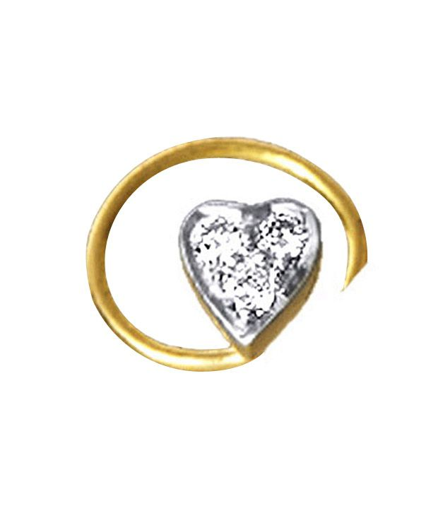 AG Diamond Heart Nose Ring