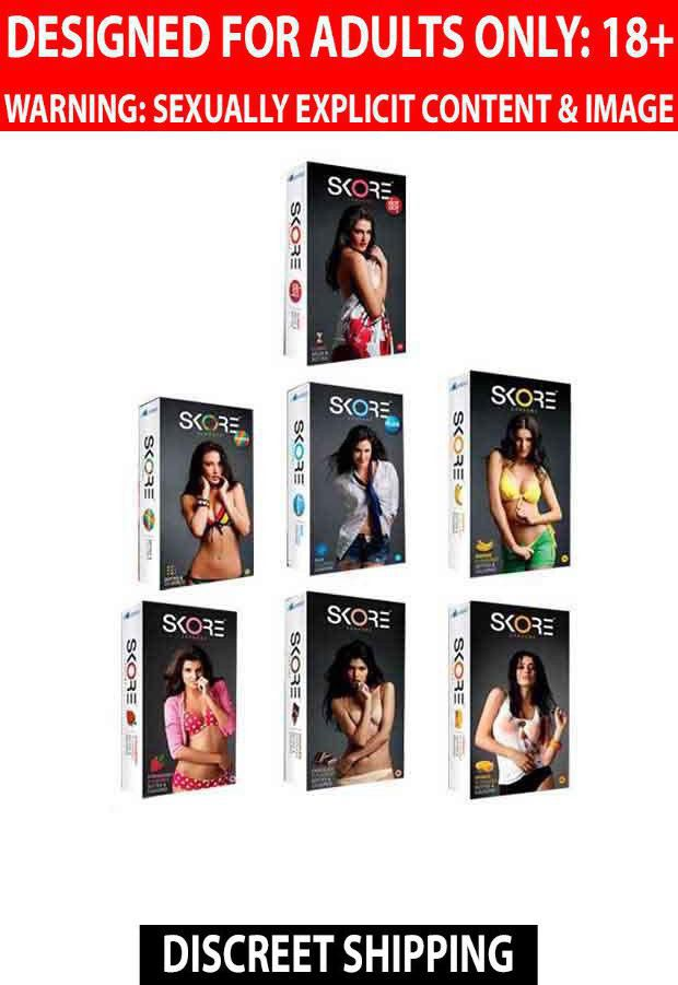 Skore Condoms Lovers All Variants Combo (10's pack each of 7 Variants)