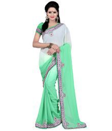 Bunny Sarees Faux Georgette Border Work Saree With Blouse Piece