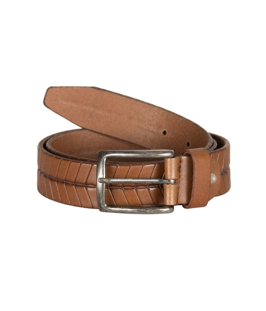 kara brown leather belt for buy at low price