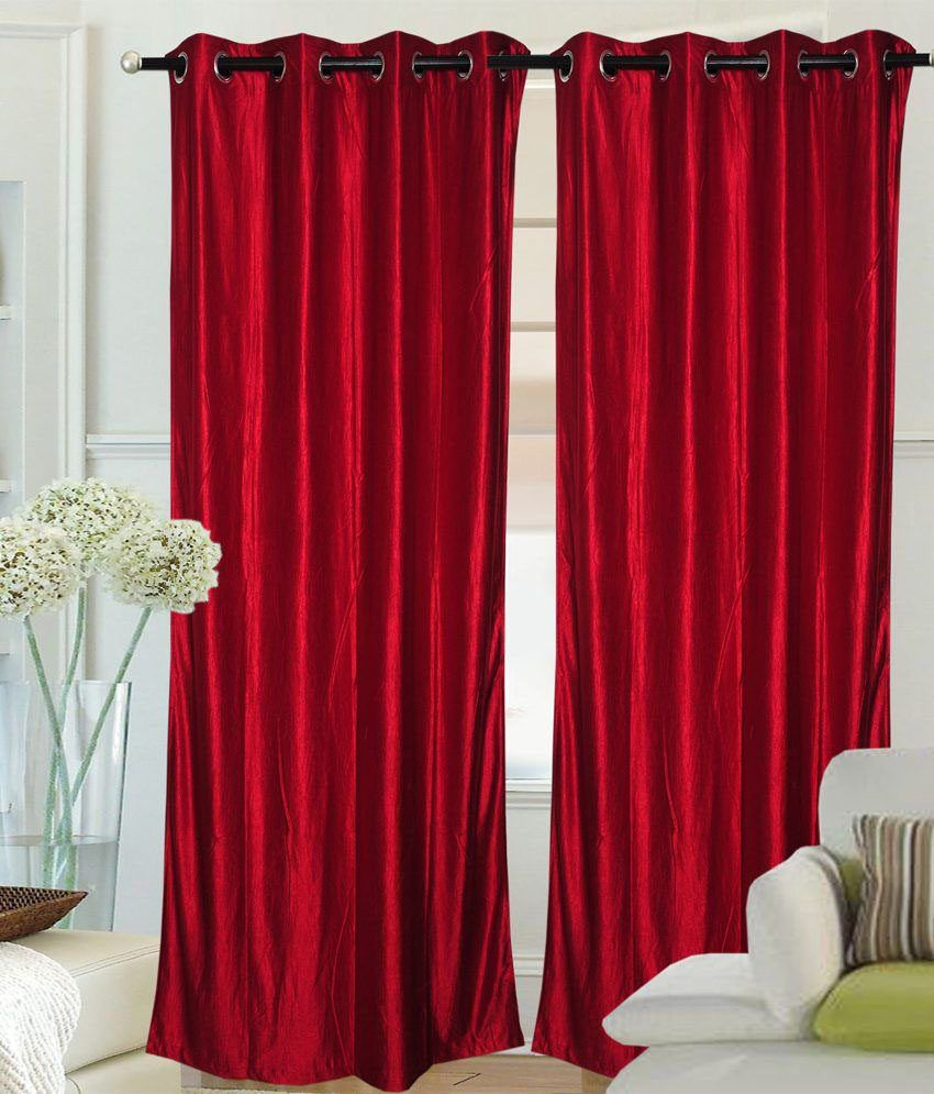 Geo Nature Set of 2 Door Eyelet Curtains