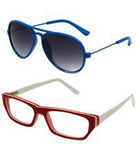 Goggy Poggy Set Of Blue Aviator Sunglasses & Brown Oval S
