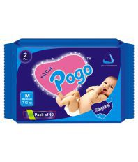 New Pogo White Cotton Diaper - Pack Of 2 Piece