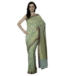 Orangee Grey Cotton Silk Saree