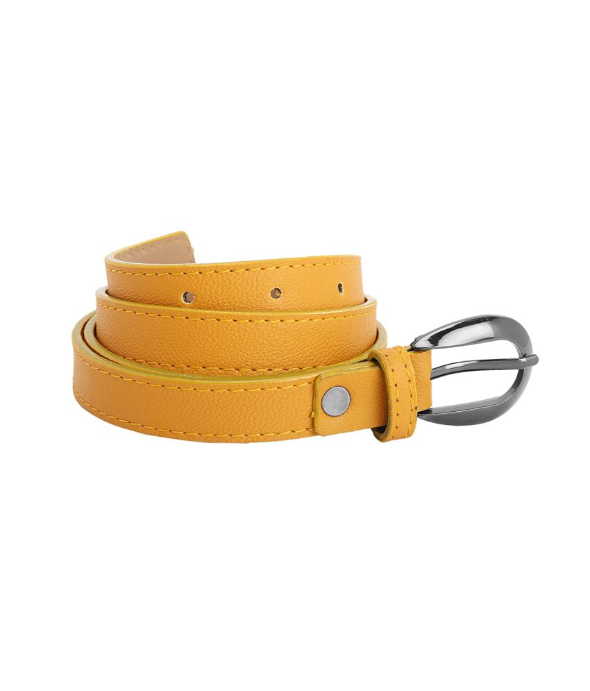 aadaana yellow leather belt buy at low price in