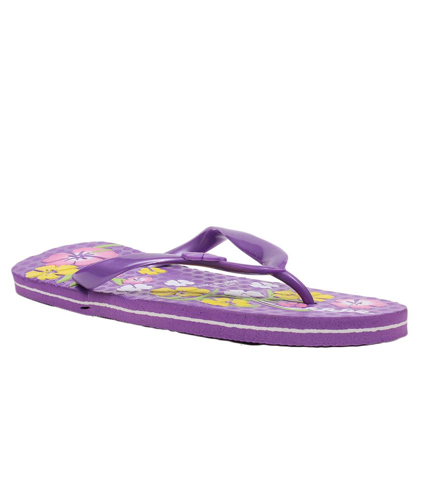 Aalishan Purple Flat Flip Flops
