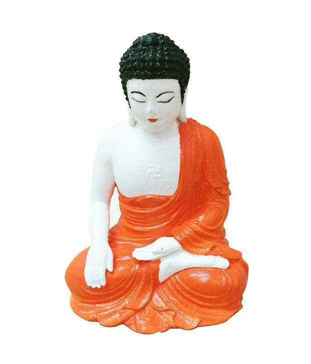 Fancy Interio Meditation Buddha Showpiece - 13 Cm