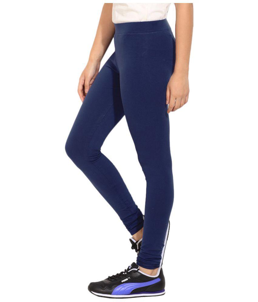 098dd4c5f96eca Puma Blue Cotton Leggings Price in India - Buy Puma Blue Cotton ...