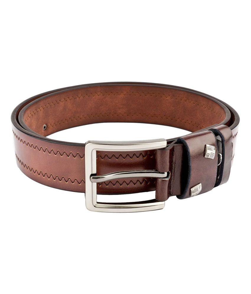 Swiss Design Men Casual Brown Leatherite Belt - SDBLT-122-BR
