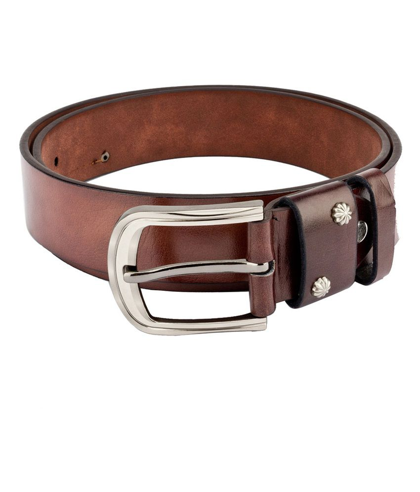 Swiss Design Men Casual Brown Leatherite Belt - SDBLT-113-BR