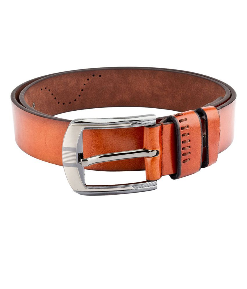 Swiss Design Men Casual Tan Leatherite Belt - SDBLT-101-TN