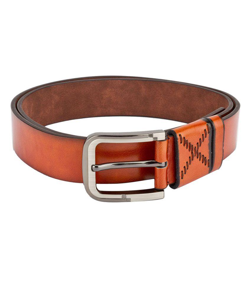 Swiss Design Men Casual Tan Leatherite Belt - SDBLT-08-TN