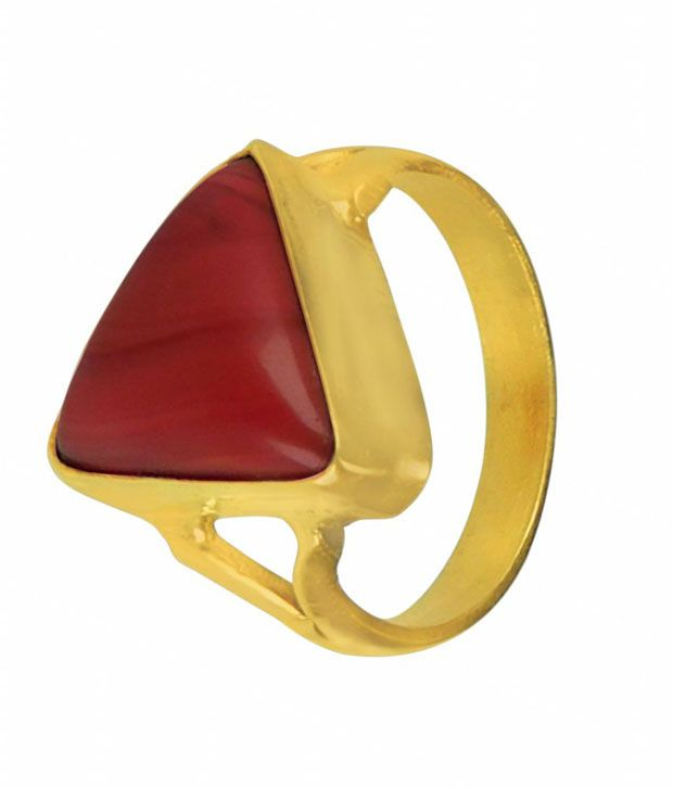 Asian Gems & Jewels Cultured Coral - Munga Gemstone Finger Ring (Panch Dhaatu) Of 5.25 Ratti