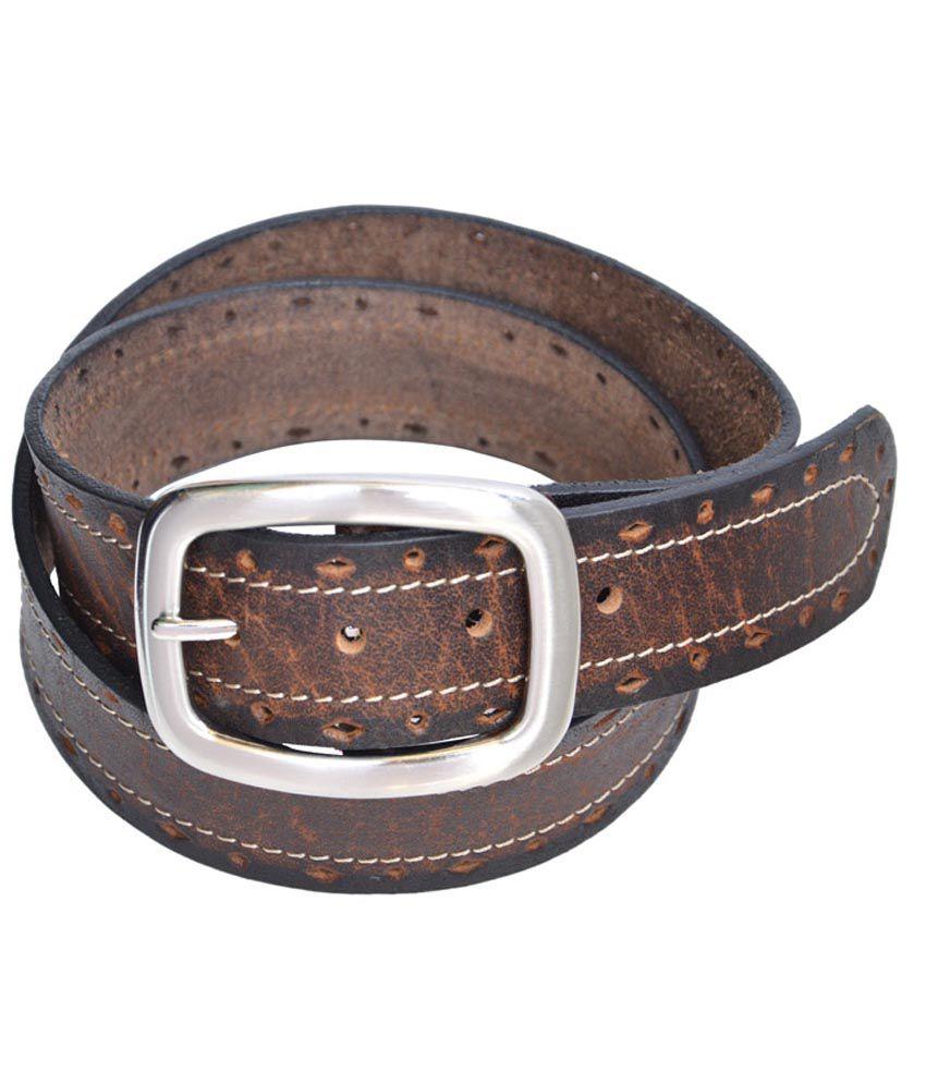 Manshkhino Brown Casual Single Belt For Men