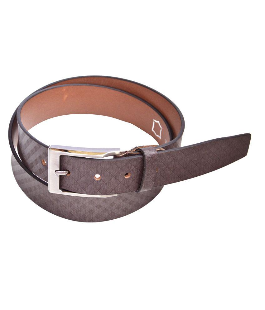 Manshkhino Brown Formal Single Belt For Men