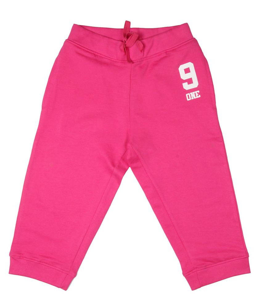 Poppers by Pantaloons Pink Knitted Capris