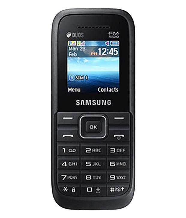 Samsung Guru Fm Plus Sm B110e D Black Feature Phone