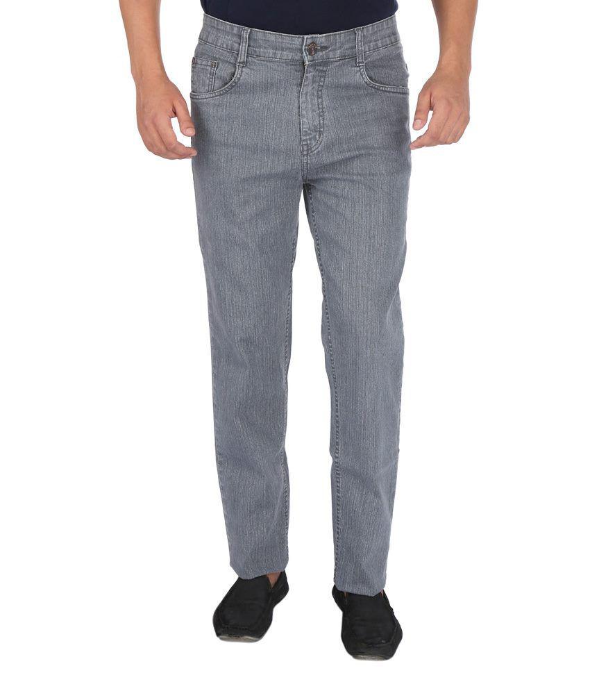 Denim-O Gray Cotton Jeans