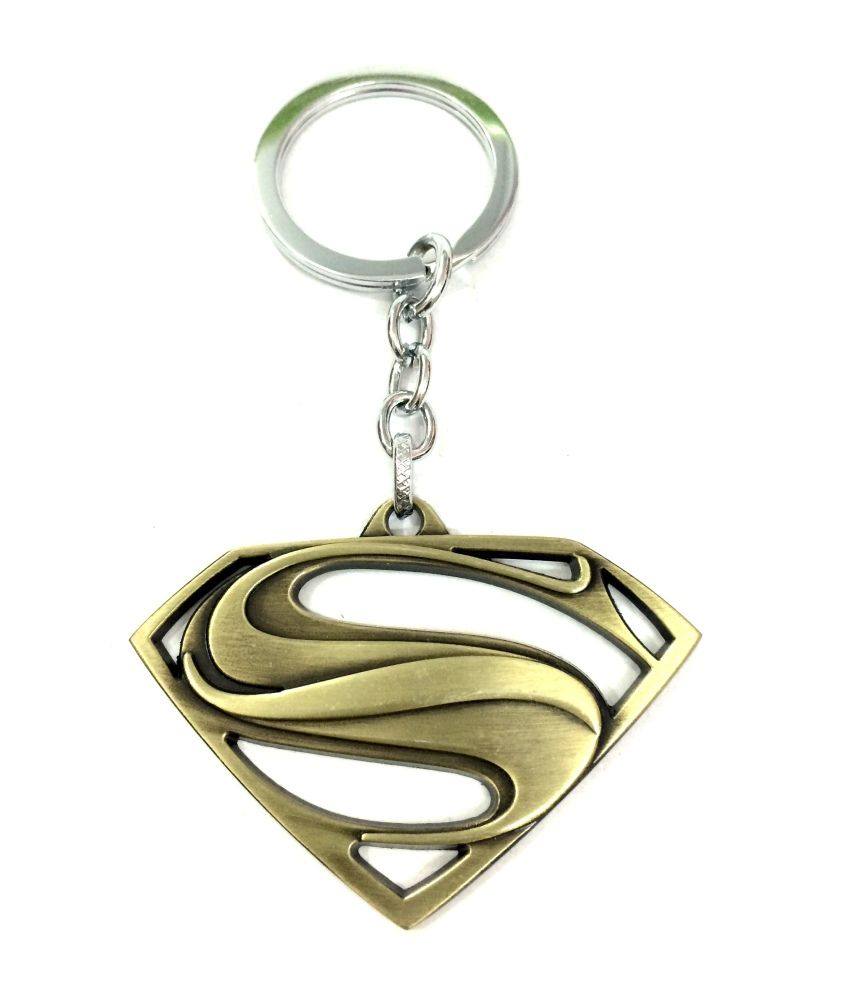 designer keychains super man metal key chain buy online