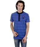 Ozzarkco Blue Cotton Half Sleeves Round Neck Tshirt