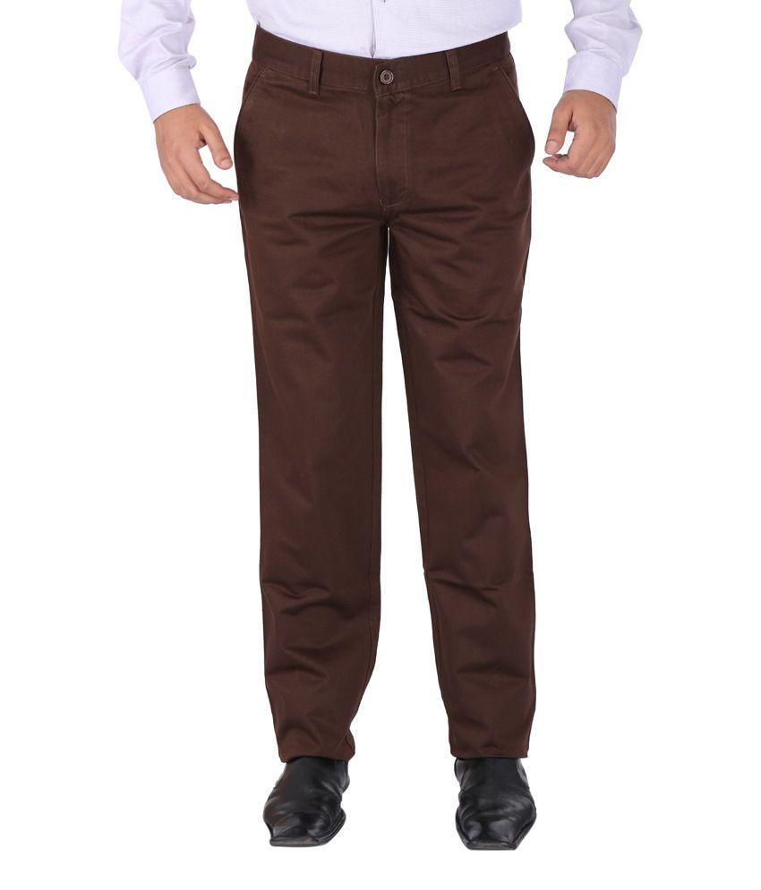Savino Brown Cotton Jeans