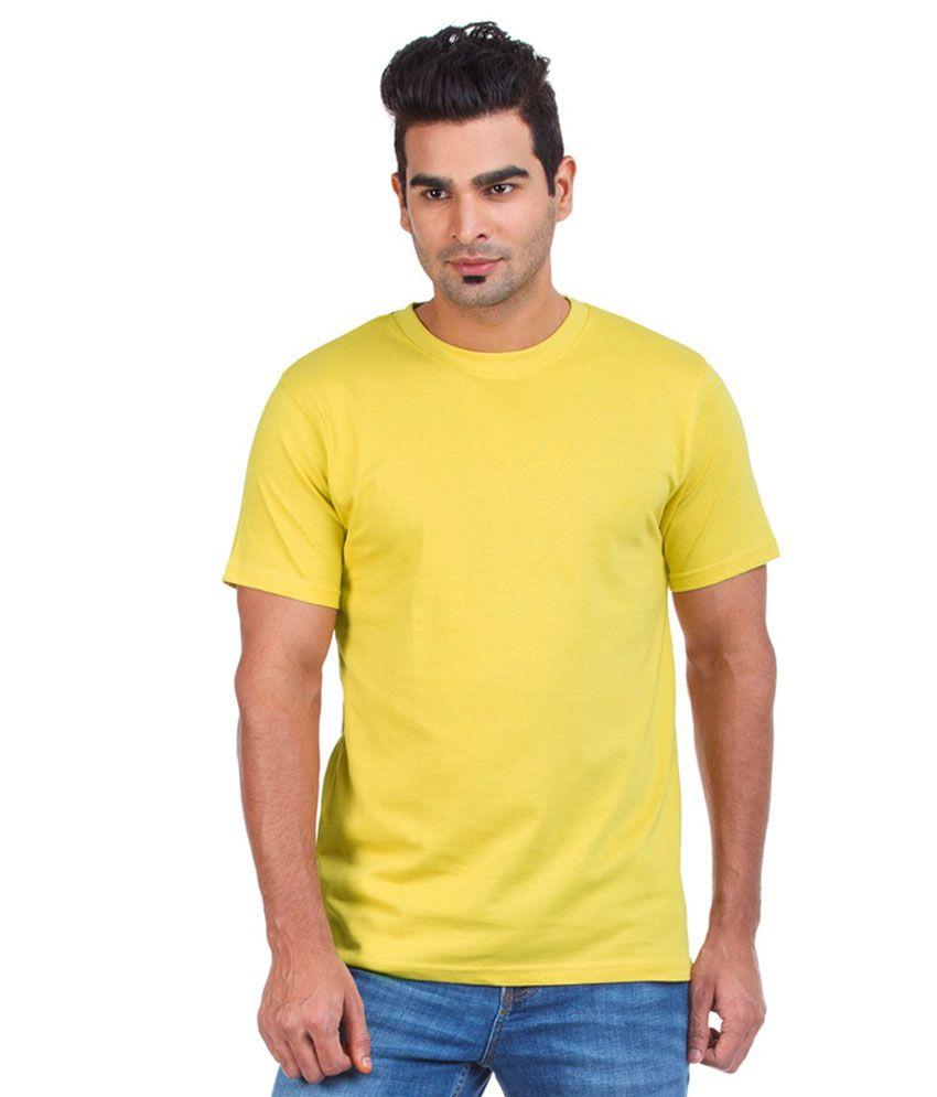 G Twins Yellow Cotton T Shirt