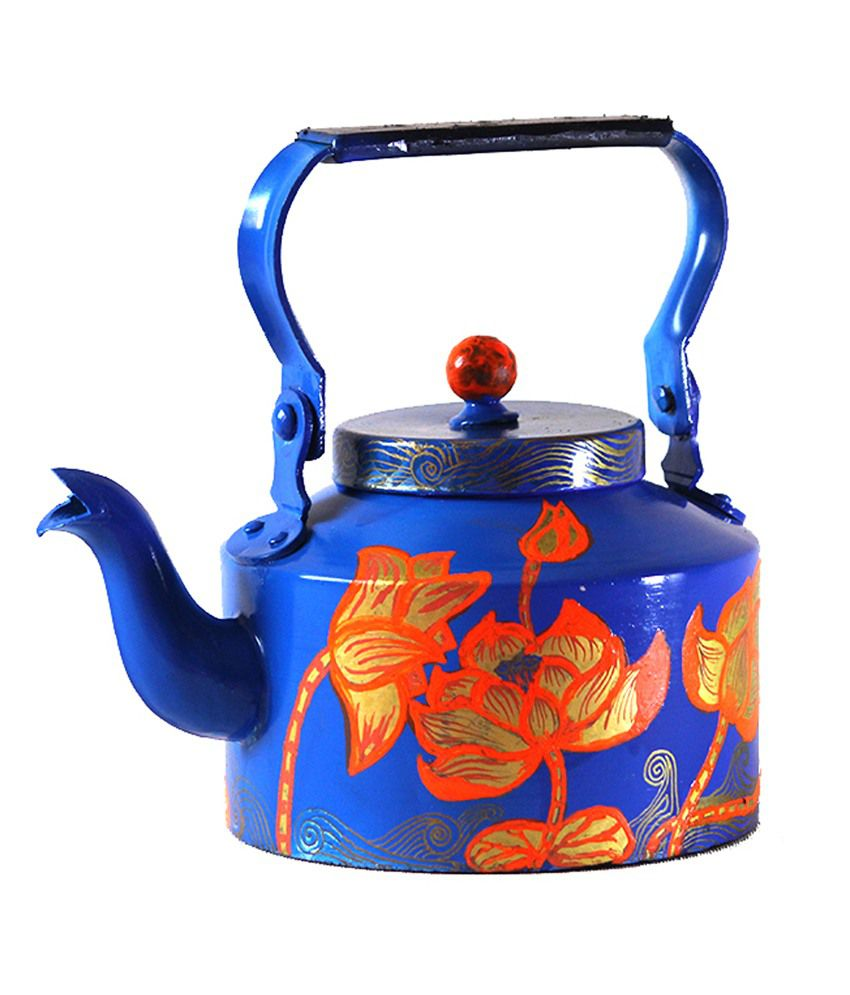 9simplestreests Hand Painted Home Decor Lotus Kettle
