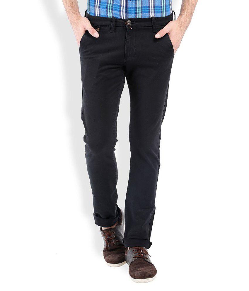 Vintage Black Slim Fit Casuals
