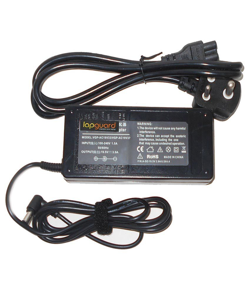 Lapguard Laptop Adapter Fit For Sony VGP-AC19V21 19.5V 3.95A Connector Pin Size 6.5x4.4