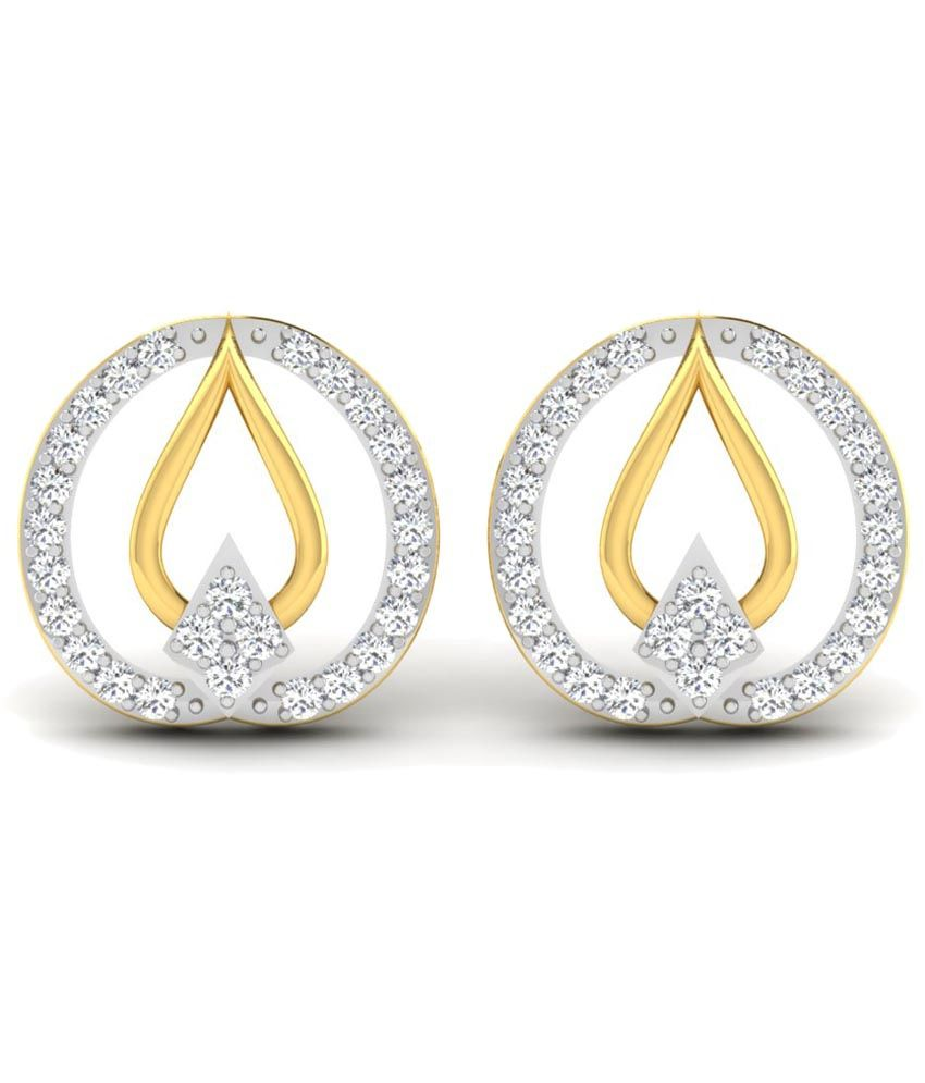 Sparkles 0.1 Ct Diamond & 18 Kt Gold Stud Earrings
