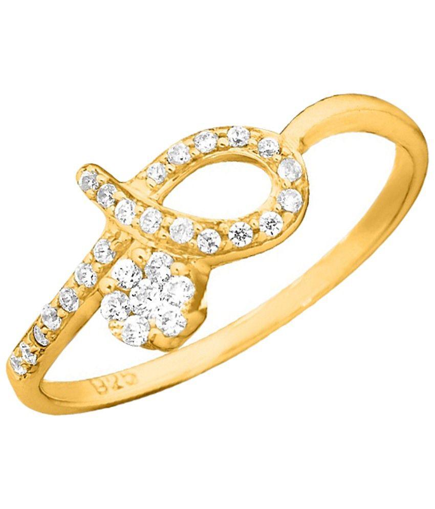 Sparkles 0.17 Ct Diamond & Gold Ring for Women