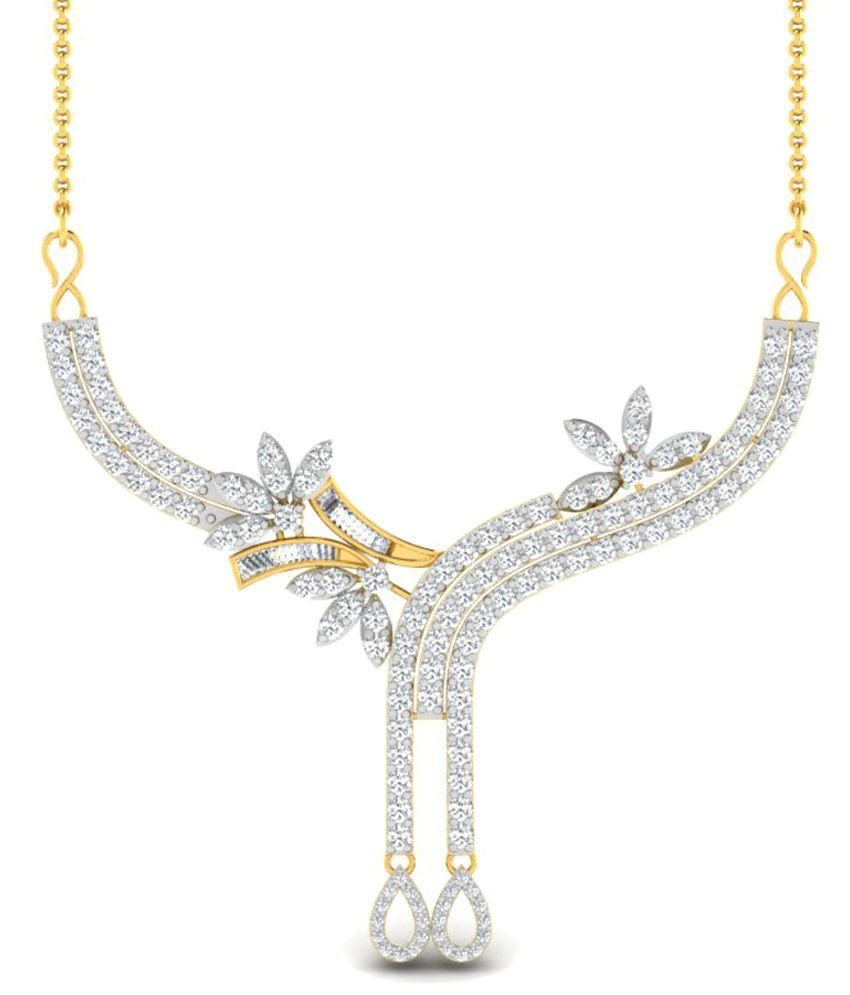 Sparkles 4.14 Ct Diamond & 18 Kt Gold Necklace for Women