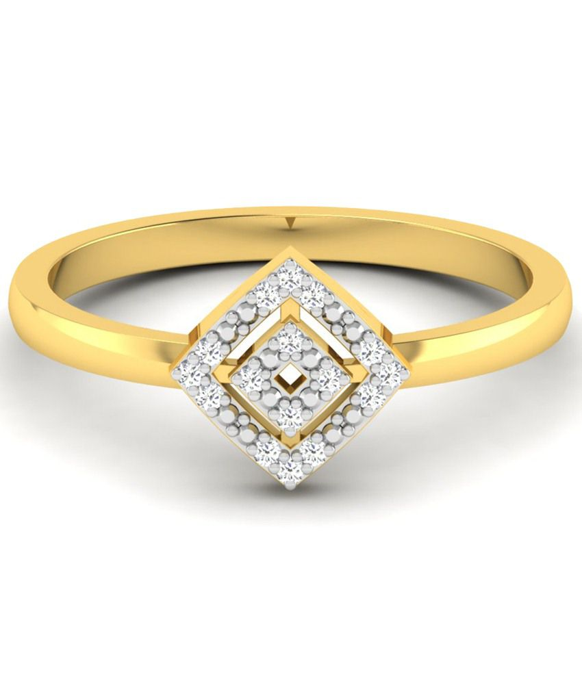 Sparkles Alluring 0.08 Ct Diamond & 18 Kt Gold Ring for Women