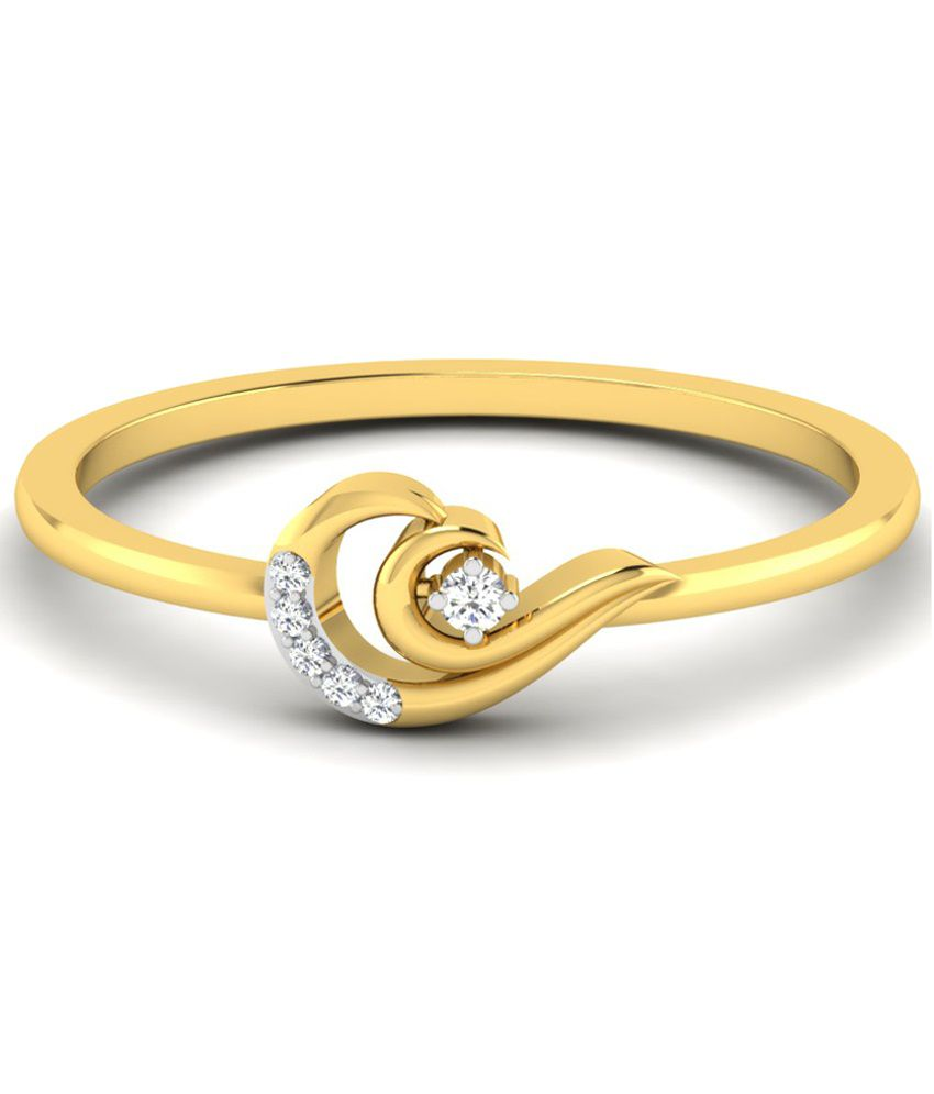 Sparkles Winsome 0.03 Ct Diamond & 18 Kt Gold Ring for Women