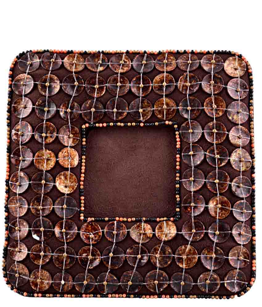 Fair Crafts Fair Crafts Brown Embroidered Photo Frames