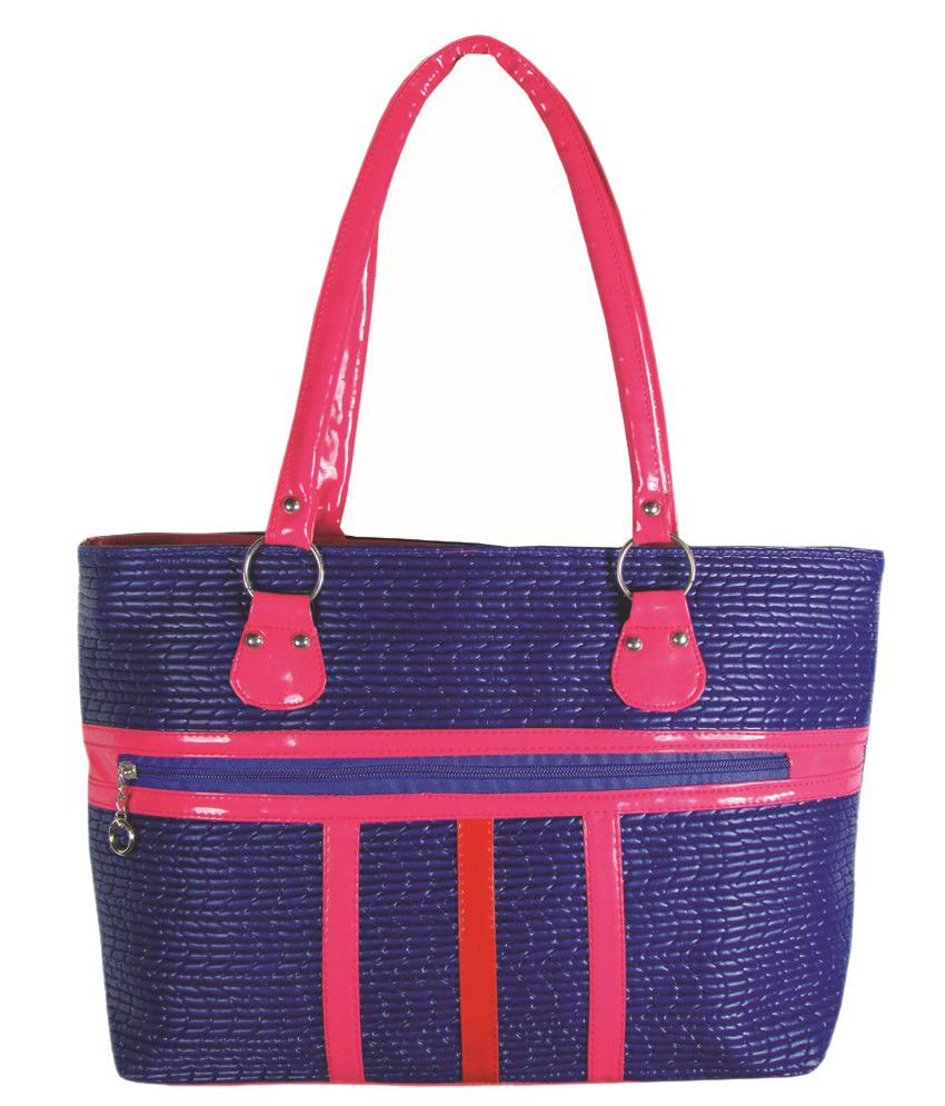 MTE Stipped Blue Non Leather Handbag