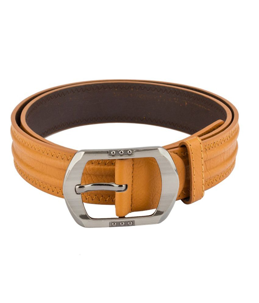Mango People Tan Non Leather Casual Belts For Men