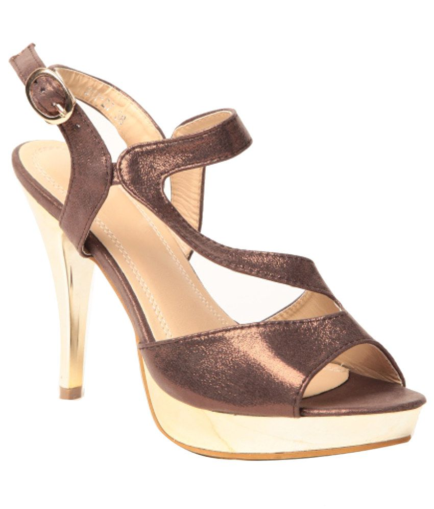 Anand Archies Trendy GoldenenRod Heeled Sandals
