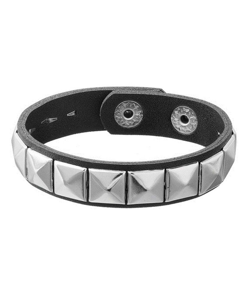 Fabula Black Style Diva Party Wear Toggle Crystal Bracelets