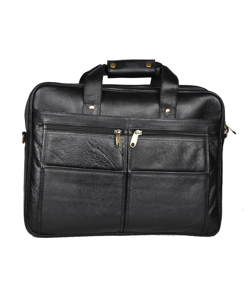 Bag Jack Sirius Black Leather Office Messenger Bag