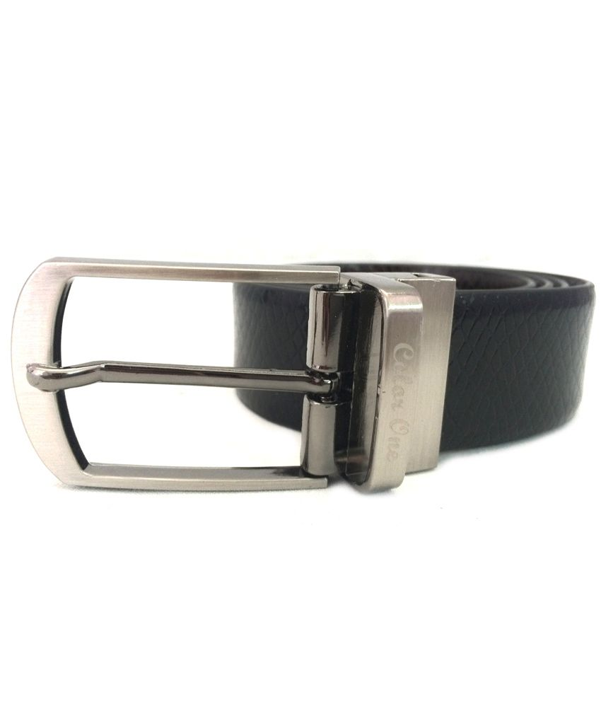 Color One Black N Brown Reversible Leather Belts: Buy ...