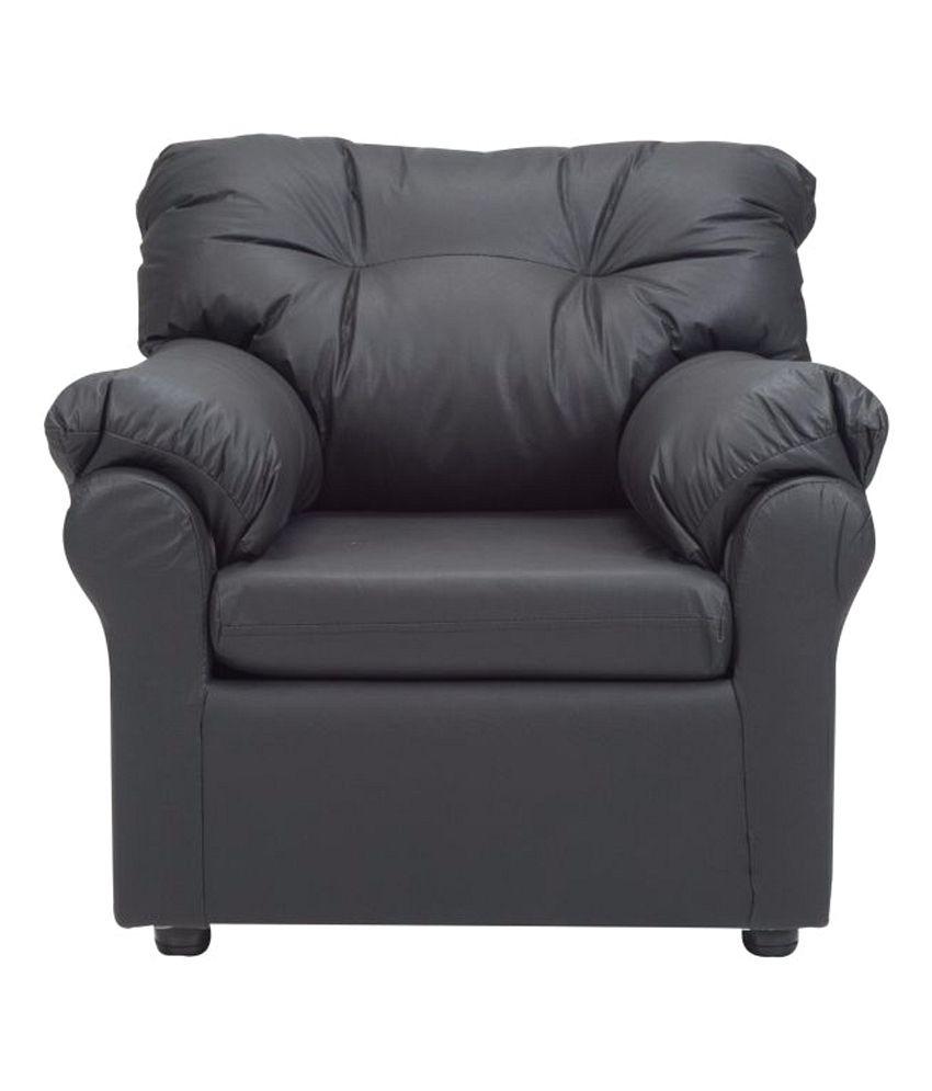 Elzada 5 Seater Sofa Set 3 1 1 In Black Buy Elzada 5